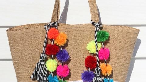 Make Your Own Pom Pom Beach Bag | StyleCaster