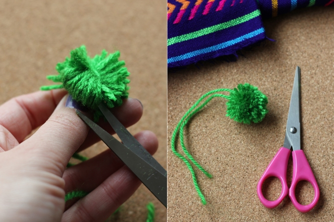 how to make your own diy pom pom bag