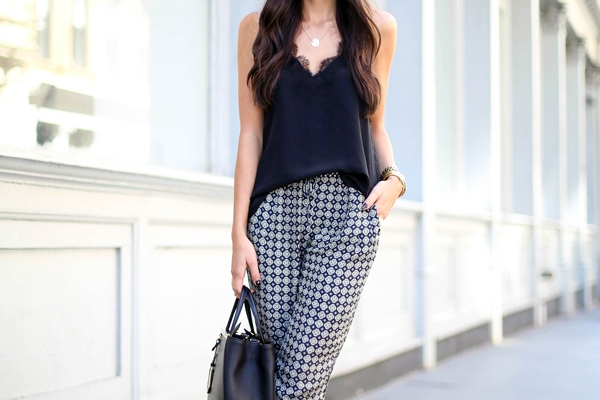Patterned Pants 20 Outfit Inspiration Photos Stylecaster
