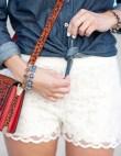 20 Ways to Style Lace Shorts