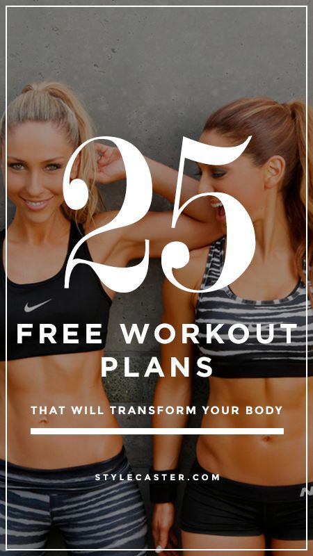 The best free workout plans that will transform your body | @stylecaster