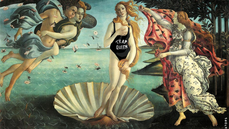 Classic Paintings in Today's Swimwear  | StyleCaster