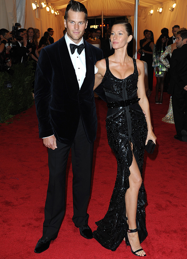 Gisele Bundchen and Tom Brady Schiaparelli and Prada 'Impossible Conversations' Costume Institute Gala 2012 at The Metropolitan Museum of Art Featuring: Gisele Bundchen and Tom Brady Where: New York City, United States When: 07 May 2012 Credit: WENN