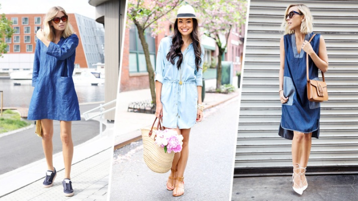 23 Reasons Why You Need a Denim Dress This Spring