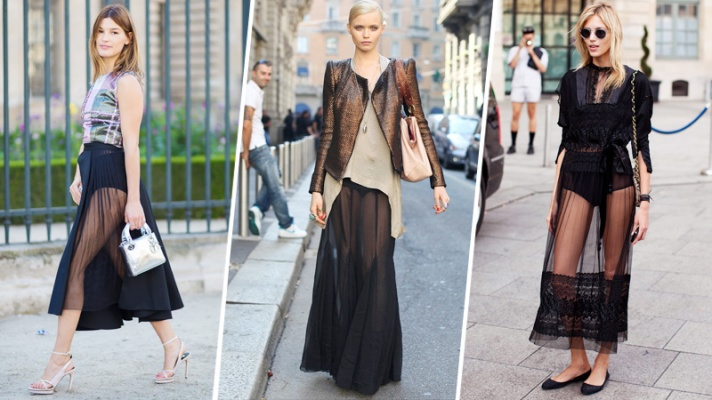 24 Ways to Make a Super-Sheer Skirt Look Completely Chic
