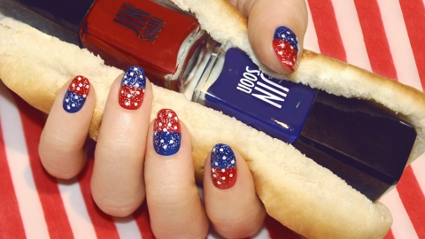 The Easiest 4th of July Nail Art Ever  | StyleCaster