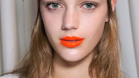Picture Proof Orange Lipstick Works   StyleCaster