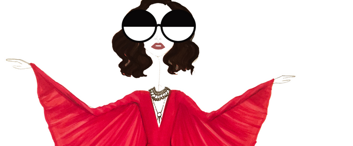 The Best Red Dresses From the CFDA Red Carpet—Modeled by Our Girl Sew Sketchy!