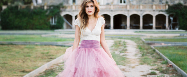25 Real Brides Who Bucked Tradition With Colored Wedding Dresses