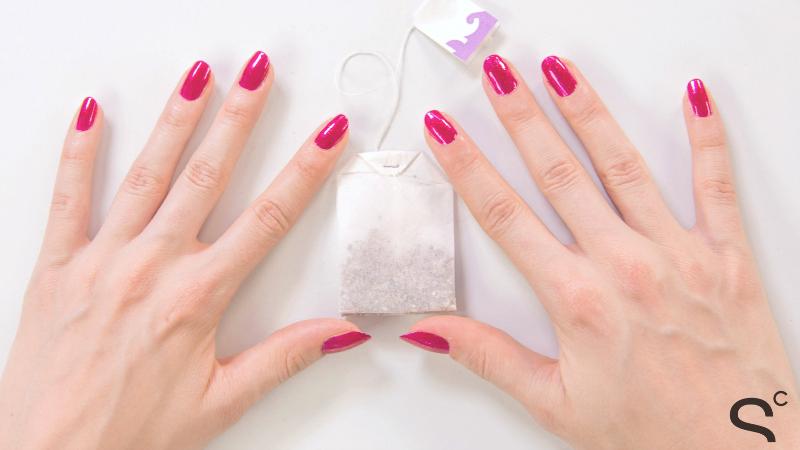 tea bag nail repair