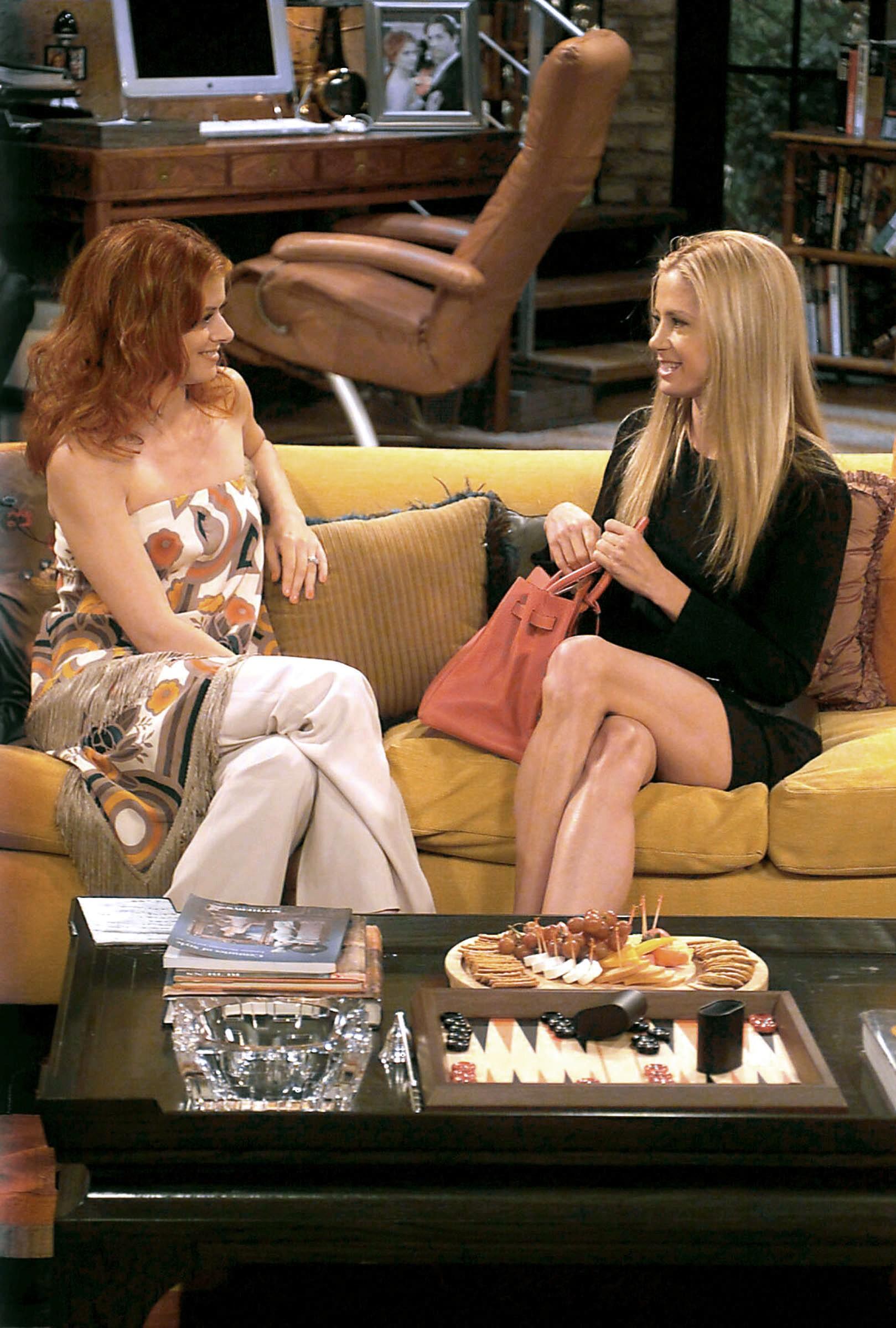 WILL & GRACE, 'Last Ex To Brookland', (Season 6, aired 10/02/03), Debra Messing, Mira Sorvino, 1998-, © NBC / Courtesy: Everett Collection