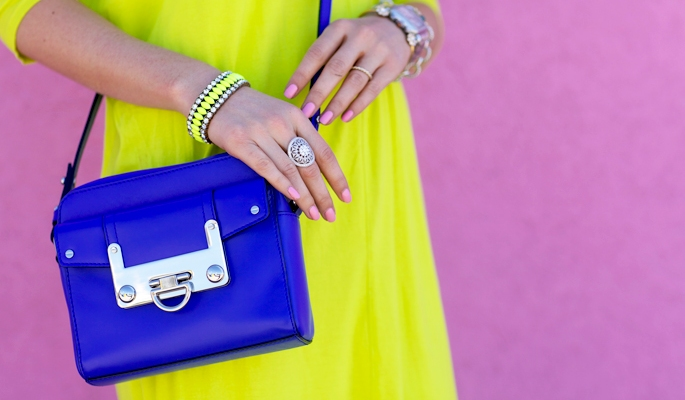 Our New Favorite Color Combo: Neon Yellow and Cobalt Blue