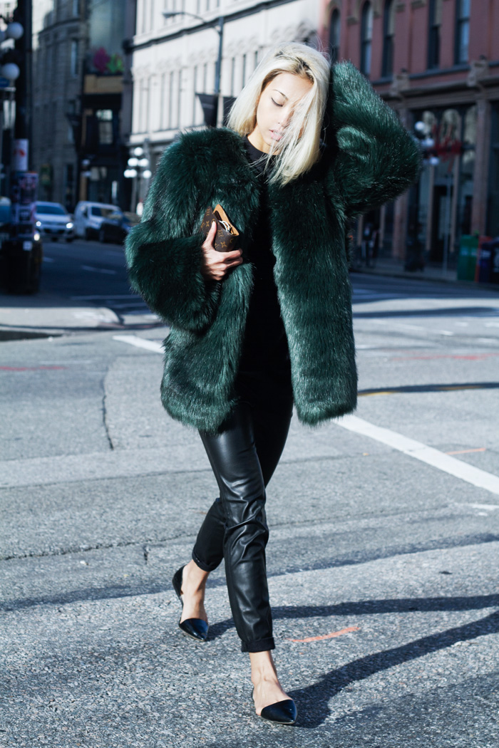 greenfurcoat2 Prepare to Obsess Over The Haute Pursuits Line of Colored Faux Fur Coats