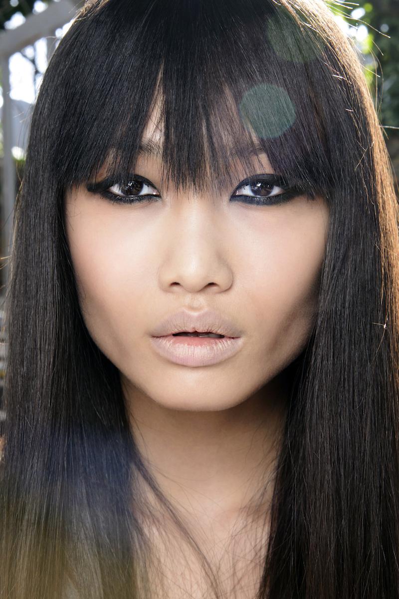 asian girl with long bangs