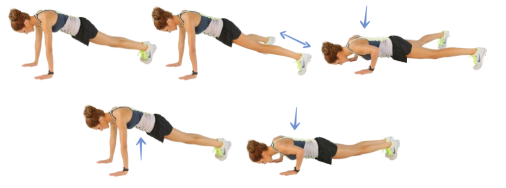kayla itsines In and Out push ups