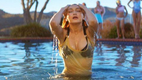 Gigi Hadid Strips Down For Calvin Harris | StyleCaster