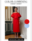 Colors to Pair: Bold Red and Baby Blue