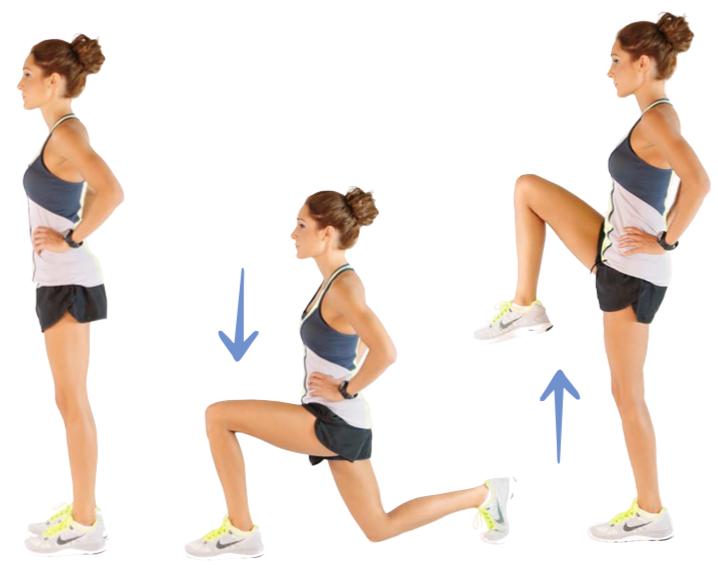 kayla itsines Reverse Lunge + Knee lift