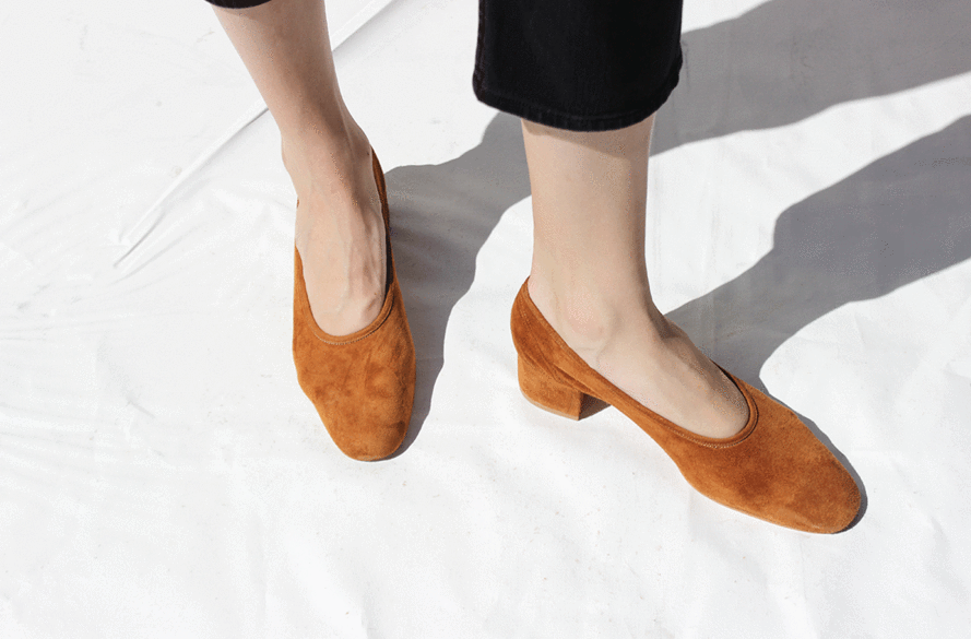 Suede Block Heels: The Shoe You'll See