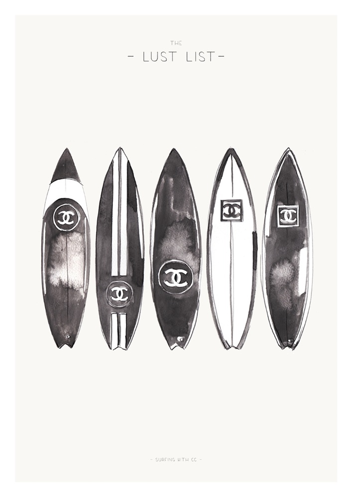 Chanel Surfboard Illustration