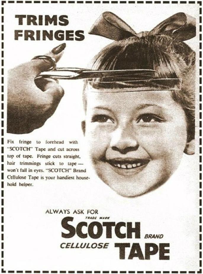 vintage scotch tape ad
