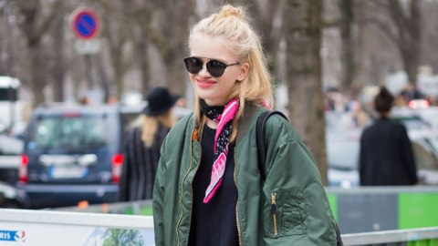 Army Green: All Over NYFW's Streets | StyleCaster