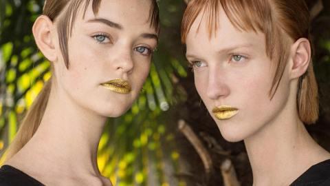 Behold: Prada's 24-Karat Gold Lips | StyleCaster