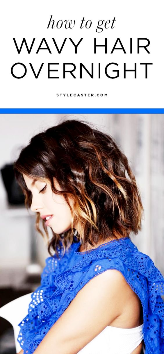 3 no-heat tricks for getting wavy hair overnight | @StyleCaster