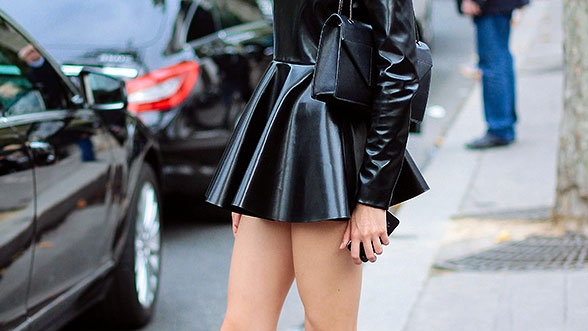 How to Pull Off Patent Leather Like a Street-Style Star