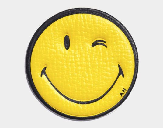 Anya Hindmarch smiley face sticker