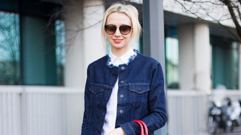 How to DIY a Frayed Jean Jacket | StyleCaster