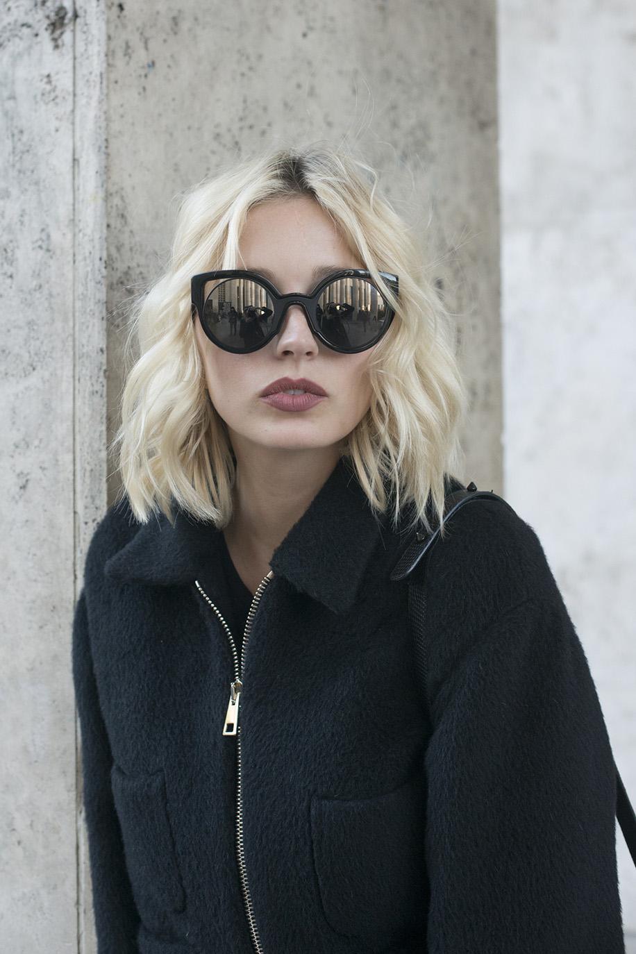 Caroline Vreeland at Paris Fashion Week. Photo: Kirstin Sinclair/Getty Images
