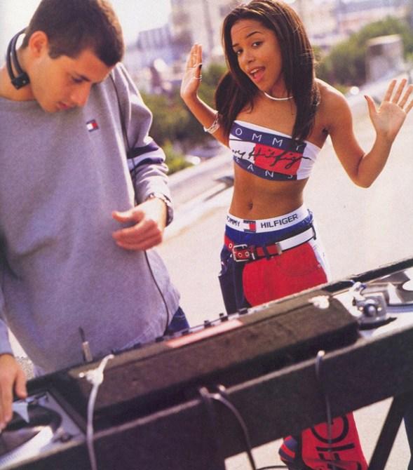 Aaliyah '90s Hilfiger ad.