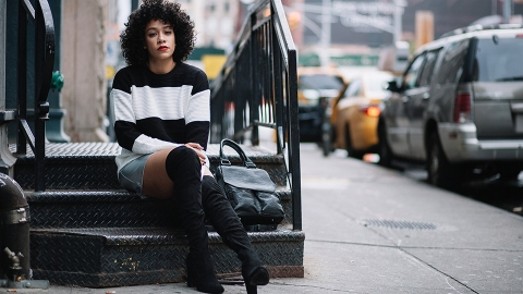 33 Over-the-Knee-Boot Outfits to Copy This Season | StyleCaster