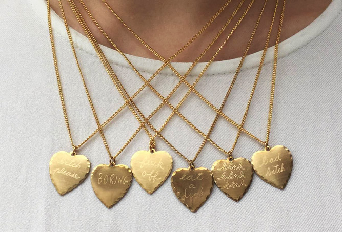 In God We Trust Sweet Nothing necklaces