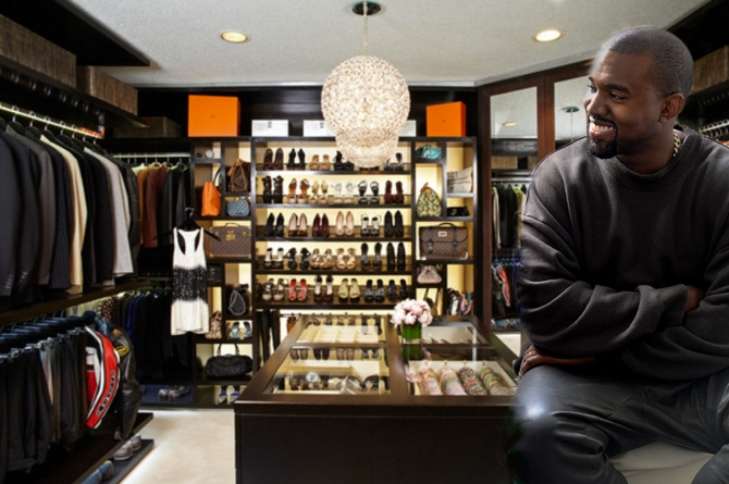 Kanye West White House Closet