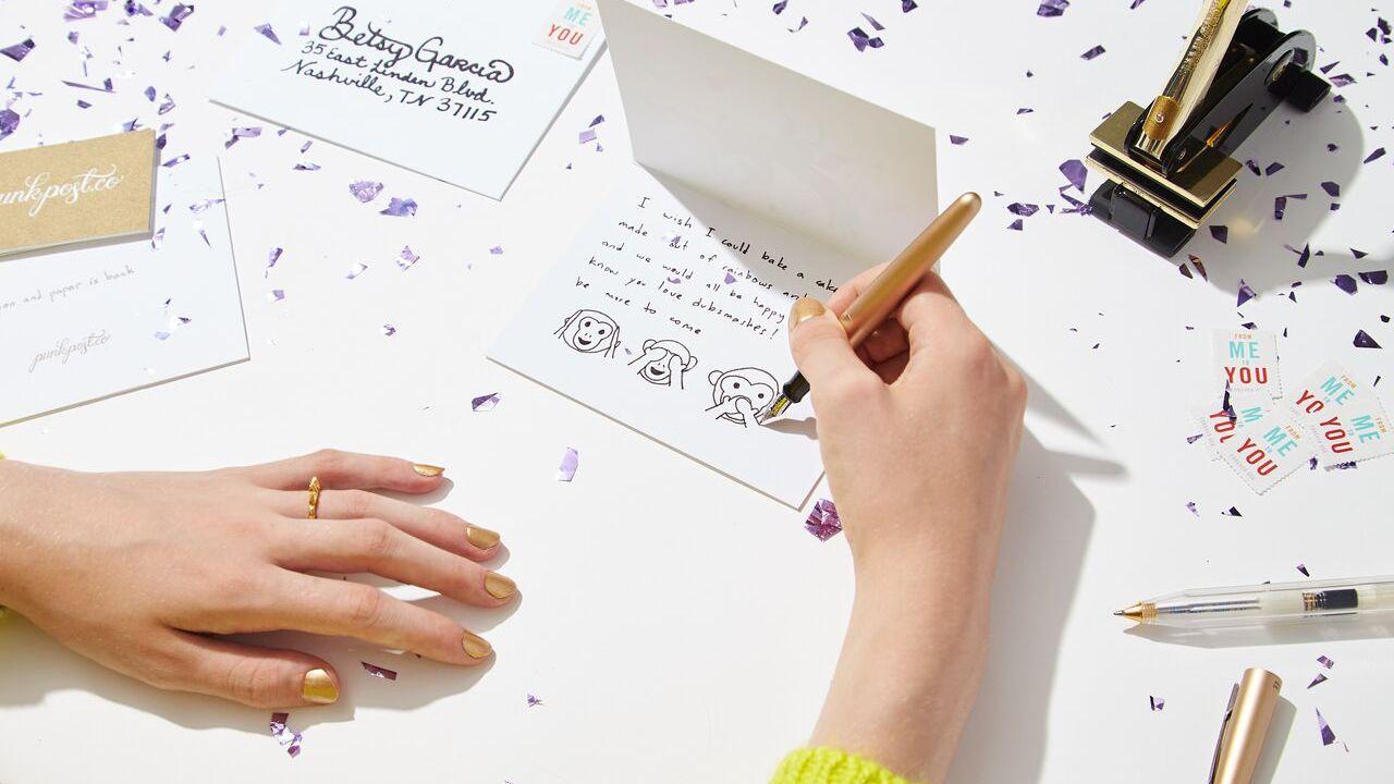 Punkpost Handwritten Card App