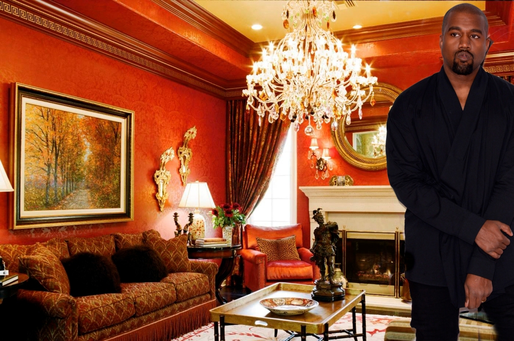 We picture Kanye rocking his executive power in a 'Scarface'-inspired room Photo: Tracy Murdock/Getty Images