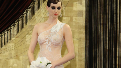 'Naked' Gowns Overtake Bridal Fashion Week | StyleCaster