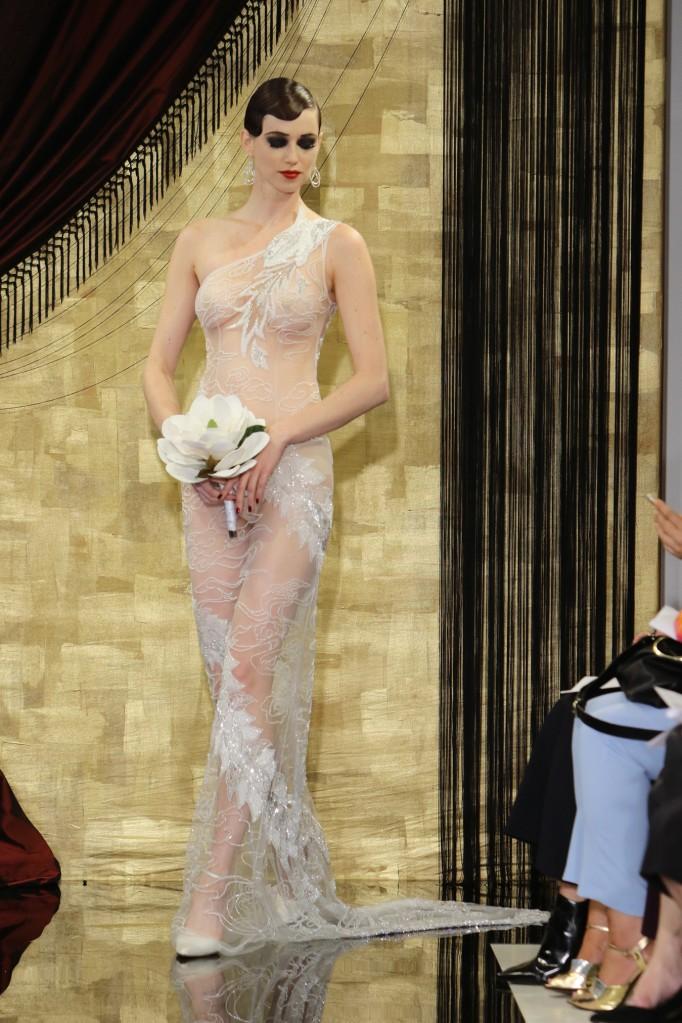 theia khaleesi dress bridal fashion week nude gown