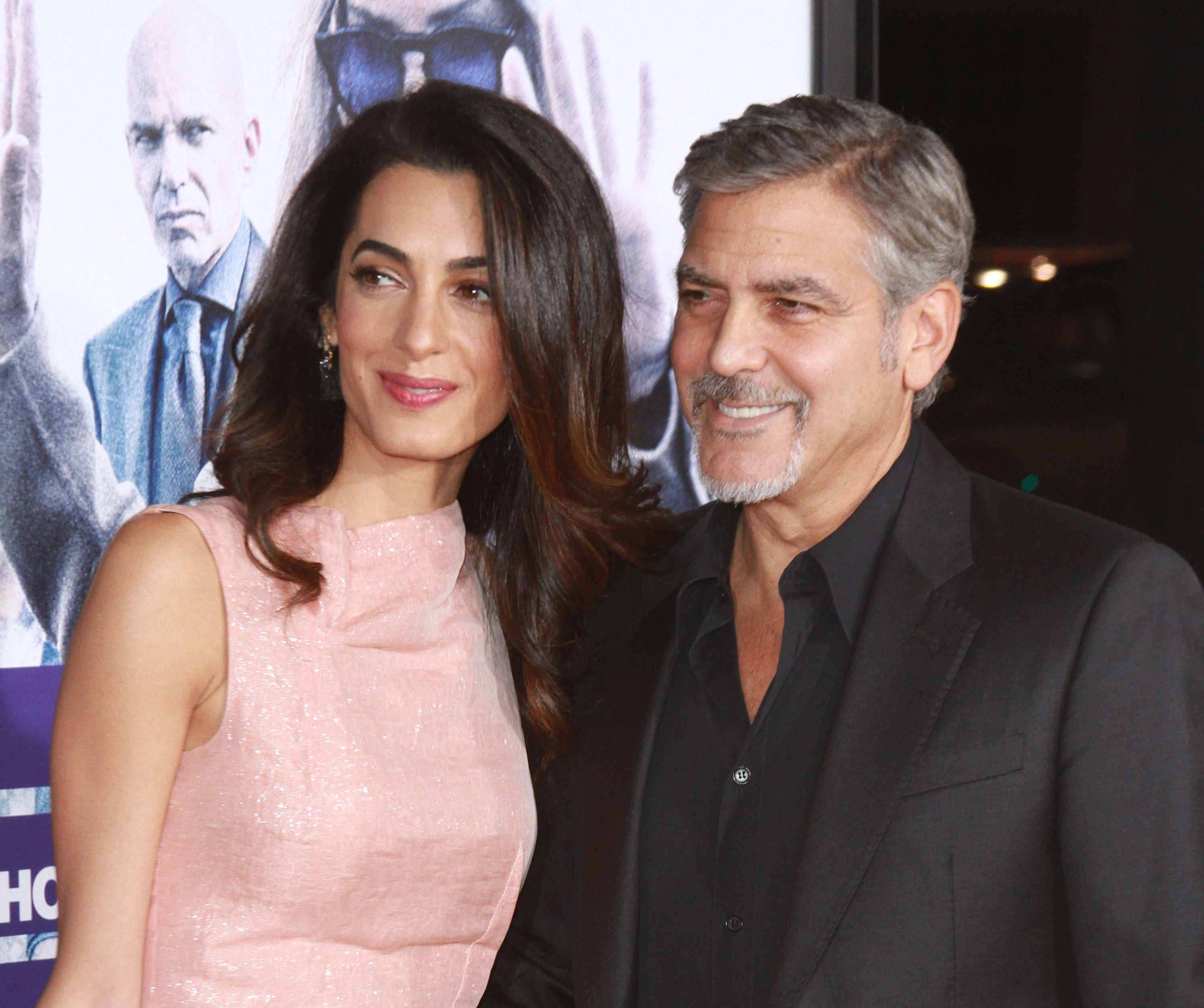 George and Amal Clooney shelter dog