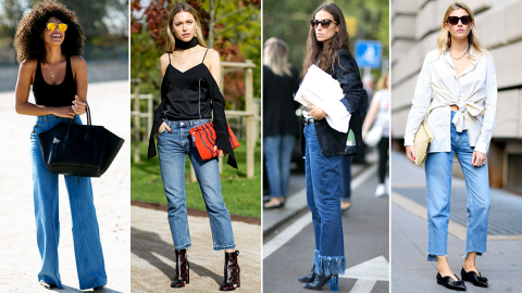 50 Street Style-Approved Ways to Wear Blue Jeans  | StyleCaster