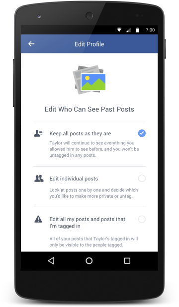 changepastposts Facebook Is Finally Making It Easier to Ignore Your Ex