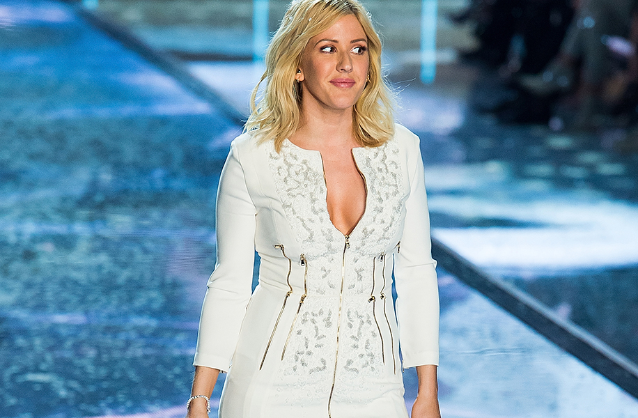 NEW YORK, NY - NOVEMBER 10: Singer Ellie Goulding performs during the 2015 Victoria's Secret Fashion Show at Lexington Armory on November 10, 2015 in New York City. (Photo by Michael Stewart/FilmMagic)