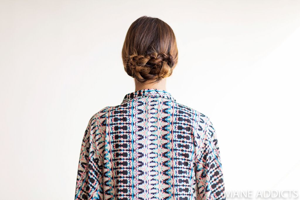 Mane Addicts rope twist chignon finished