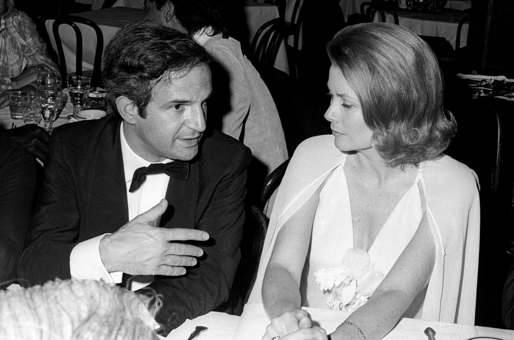 NEW YORK CITY, UNITED STATES - APRIL 29: Francois Truffaut and Princess Grace of Monaco during the Lincoln Centre Tribute to Alfred Hitchcock on April 29, 1974 in New York City. (Photo by Tom Wargacki/WireImage)