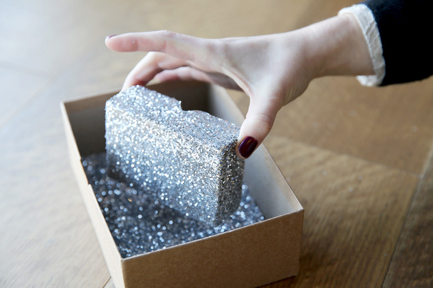 glittered boxes 7 Suck at Wrapping? These Easy DIY Glitter Gift Boxes Make It Look Like You Tried