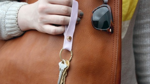 Got 5 Minutes? You Can Make This Leather Key Chain | StyleCaster