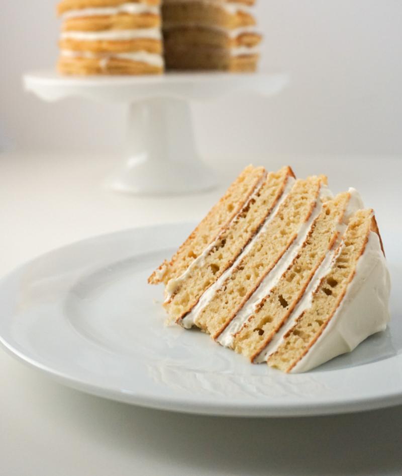pancake cake slice