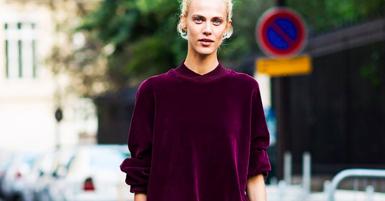 How 20 Street Style Stars Wear Velvet